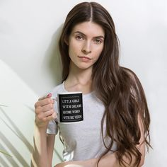 Whether youre drinking your morning coffee, evening tea, or something in between – this mugs for you! Its sturdy and glossy with a vivid print thatll withstand the microwave and dishwasher. Tea Mugs, Coffee Mugs, Black Buddha, Latte Cups, Trends, Christian Gifts, You Are The Father, Mug Designs, Girl Boss