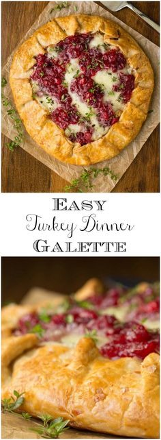 Got leftovers? Give them brand new clothes with this delicious Easy Turkey Dinner Galette, You can put it together in less than 20 minutes!