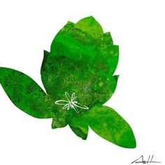 'Green Design Lotus' by Andy Anh Ha Painting Print on Wrapped Canvas