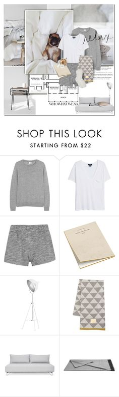 """""""What to wear: Netflix Binge"""" by anna-anica ❤ liked on Polyvore featuring Who What Wear, Iris & Ink, MANGO, rag & bone, HAY, ferm LIVING, Descamps, Acne Studios and M&Co"""