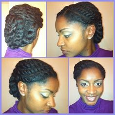 Another quick protective style | I can see myself doing this in the morning before work..hmm *CJ