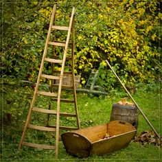 Vintage fruit picking ladders are no longer needed with when you have The Twister Fruit Picker® http://www.mabelandrose.com/shop/vintage-fruit-picking-ladders/