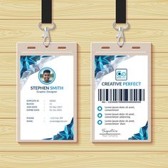 Id Card Template Unique Business Cards, Professional Business Cards, Business Card Design, Identity Card Design, Employee Id Card, Visiting Card Templates, Corporate Id, Id Card Template, Card Card