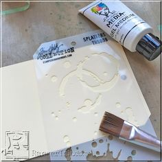 Designer Jenn Shurkus shares a color and texture filled mini book that is packed full of technique in this guest tutorial. Stencils, Stencil Art, Mixed Media Journal, Mixed Media Canvas, Art Journal Tutorial, Mixed Media Tutorials, Stamp Printing, Scrapbook Journal, Card Tutorials