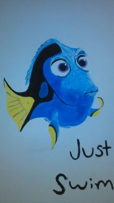 My daughter drew this freehand. Just keep swimming...