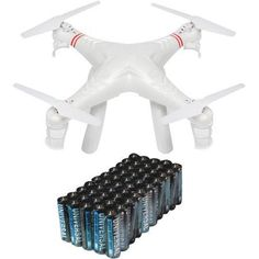 Cobra RC Toys 908728 2.4GHz UFO Drone Quad with HD Video Camera and Super Heavy-Duty Battery Value Box, White