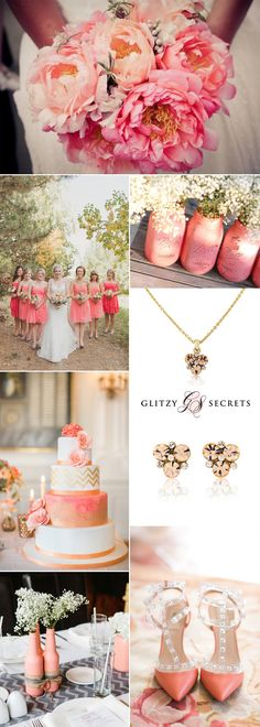 If you're looking for a fresh and different color scheme for your summer wedding then consider vibrant coral. You can mix your coral color scheme with gold, bronze, grey, mint or navy and create your own unique color palette for your big day