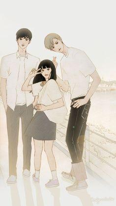 Cartoon Sketches, Cartoon Art, Wattpad Book Covers, Boy And Girl Best Friends, Drawings Of Friends, Cute Couple Art, Korean Art, Cute Cartoon Wallpapers, Cute Drawings