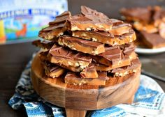 The best toffee recipe EVER! Sweet milk chocolate, crunchy pecans, and rich, buttery toffee - what's not to love? This Better Than Anything Toffee is easy to make and makes the perfect treat OR gift year-round!// Mom On Timeout