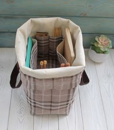 Extra large Knitting Project Bag Canvas Project Bag for Crochet Tools, Envelope Sizes, Circular Knitting Needles, Knitted Bags, Free Knitting, Knitting Projects, Bag Storage, Bag Making, Simple Designs