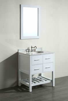 Art Exhibition Single Bathroom Vanity Set The Bosconi in Single Bathroom Vanity Set flaunts a beautiful arrangement of drawers above a lower that provides easy