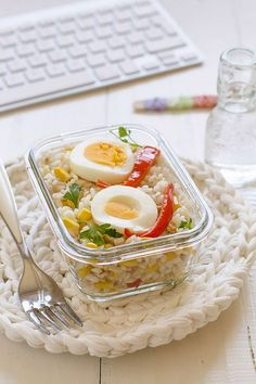 Ensalada de arroz. Recetas para tupper.