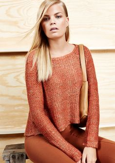 On ideel: BEULAH Long Sleeve Marled Sweater