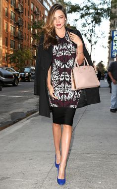 Miranda Kerr once again turns the streets of NYC into a runway. #style