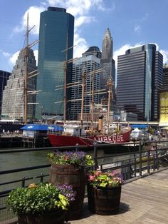 #Spring in Southstreet Seaport #nyc