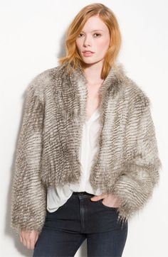 Trouvé Faux Fur Jacket | Nordstrom - StyleSays