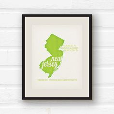 New Jersey Art  Bruce Springsteen  Song Lyric by PaperFinchDesign, $10.00