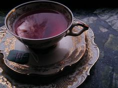 Purple tea, lavender.