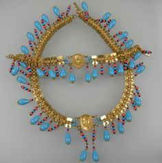 MIRIAM HASKELL Egyptian Revival Parure...