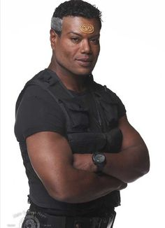 Stargate Names: Christopher Judge Characters: Teal'c Best Sci Fi Series, Tv Series, Stargate Universe, Marvel Universe, Sci Fi Shows, Star Wars, Black Actors, Stargate Atlantis, Great Tv Shows