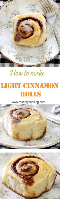Light and fluffy egg free cinnamon rolls. It is sweet enough that you won't need a glaze. Low calorie recipe.