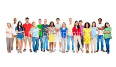 Multi ethnic group of happy people standing together Royalty Free Stock Photo