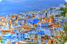 Chefchaoue, Morocco - Really neat looking town with all its blue buildings... it also says it is the most traveler friendly city in Morocco.