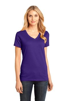 Ladies Perfect Weight V-Neck T-Shirt