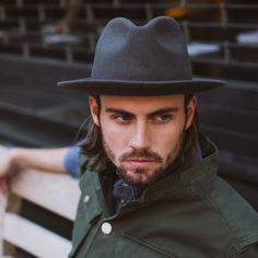 Luke Vintage Fedora in Grey from @Yellow 108. Handmade in the USA. Fitted, Crushable and Unisex. Made of 100% Salvaged Wool #yellowlove