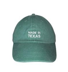 Made In Texas Embroidered Cap