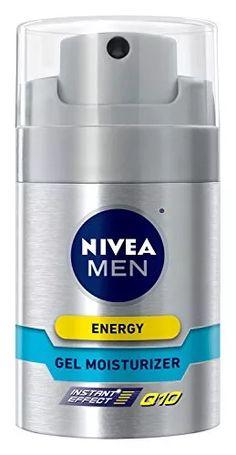 NIVEA MEN Energy Non-Greasy Face Gel Moisturizer Q10, 1.7 oz Bottle
