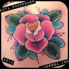 https://www.facebook.com/VorssaInk, http://tattoosbykata.blogspot.fi, #tattoo #tatuointi #katapuupponen #vorssaink #forssa #finland #traditionaltattoo #suomi #oldschool #pin up #rose
