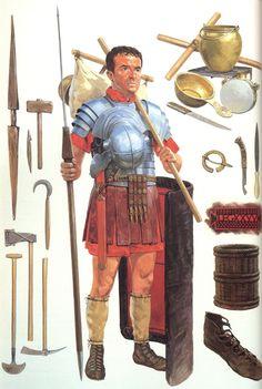 Легионер в северной Британии, 160-180 года н.э