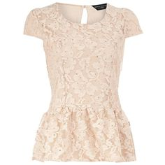 Lace Peplum top | Fashion Icon ❤ liked on Polyvore featuring tops, peplum, shirts, pink shirt, lace peplum top, peplum tops, pink peplum shirt and peplum shirt