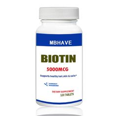 [Visit to Buy] Biotin 5000 mcg 120 Tablets Max Strength Hair Skin and Nails Support #Advertisement