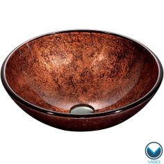 The VIGO Mahogany Moon glass vessel bowl will bring an earthy feel to your bathroom with its tones of copper reddish brown which cast striking, yet neutral hues. The solid tempered glass sink is handmade so no two are identical.