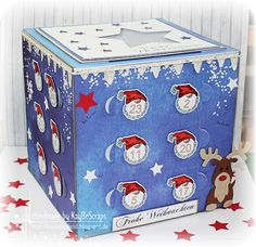 Gummiapan Diy Advent Calendar, Countdown Calendar, 3d Paper Crafts, Halloween Birthday, Christmas Inspiration, Christmas Projects, Toy Chest, Projects To Try, Decorative Boxes