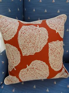 Contemporary Leaf Motif Pillow Cover by TheSummerCottage on Etsy, $65.00