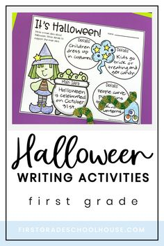 Halloween Writing Activities First Grade