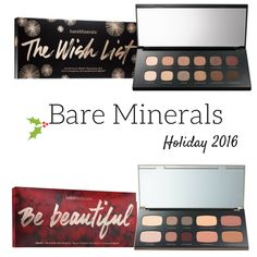The Bare Minerals Holiday 2016 Collection is starting to arrive and many of the offerings like the Bare Minerals The Wish List Ready Eyeshadow 12.0, Countd