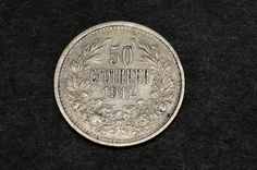 Country: Bulgaria Nominal value: 50 stotinki Year: 1912 Metal: silver Diameter: mm Weight: g Authentic! Old Coins, Ferdinand, Bulgarian, Silver Coins, 50th, Personalized Items, The Originals, Etsy, Silver Quarters