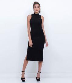 Vestido feminino  Sem manga  Midi  Marca: Blue Steel  Tecido: Lurex  Modelo veste tamanho: P       Medidas da modelo:      Altura: 1,71  Busto: 84  Cintura: 61  Quadril: 88       COLEÇÃO INVERNO 2016     Veja outras opções de    vestidos femininos.