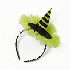 <3 Lime Witch Hat Headband