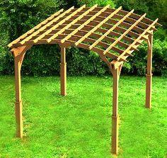 how to build a hip roof pergola
