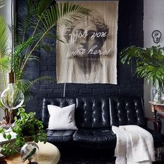 "Decor Styles to Mix - Hygge Gothic Jungalow | If you're sick your mishmash decor looking like every other ""eclectic"" space you've ever seen, maybe a more streamlined hybrid design is what you need. Here are five new decorating styles that are a hybrid of two existing aesthetics to get your creative juices flowing and inspire your best home yet."