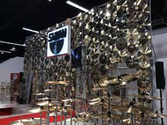 The breathtaking Cymbal wall at Sabian. Where does one even begin? #NAMM2015