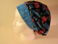 Roses Bouffant Scrub Hat Nurses Scrub Hat Surgical by sewingzen