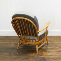 Ercol Windsor Chair – Reloved Upholstery & Design Ercol Furniture, Vintage Chairs, Mid Century Design, Shades Of Grey, Rocking Chair, Windsor, Restoration, Upholstery, New Homes