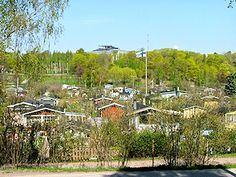 Vallila allotment gardens in Helsinki, Finland. Buildings of Kumpula campus are visible in the background. Allotment Gardening, Great Depression, Faroe Islands, Capital City, Denmark, Norway, Places To Visit, Outdoor, Allotments