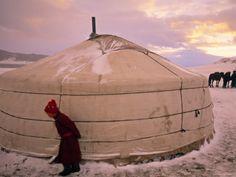 Yurts, Mongolia by Peter Adams
